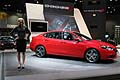 Dodge-Dart and hostess at the Chicago Auto Show 2013