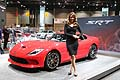 Dodge Viper SRT and model at the Chicago Auto Show 2013