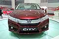 Honda city canandra anteriore al Salone di New Delhi in India