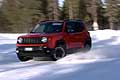 Jeep Renegade sul circuito del Proving Ground Center di FCA a Arjeplog in Svezia