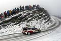 Kris Meeke and Paul Nagle tackle the icy roads of the Monte Carlo Rally