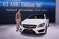 Mercedes CLA 45 AMG tecnology e hostess al New York Auto Show 2013