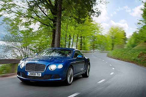 Bentley - Benley Continental GT Speed Coupè supercar che raggiunge i 329 km/h