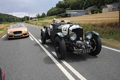 Bentley - Bentley continental GTC V8 e 4 1/2 litre Bloweron the way to 2012 Le Mans Classic