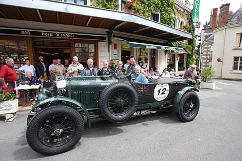 Bentley - Le Mans Classic: Dered Bell and mission motorsport support team relaxing before the racing begins