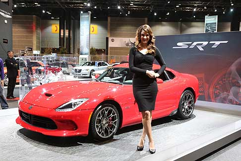 Dodge - Dodge Viper SRT and model at the Chicago Auto Show 2013