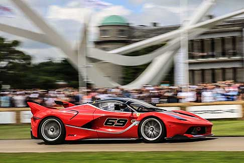 Ferrari - Ferrari FXX K pilota James Calado a Goodwood 2017 in UK