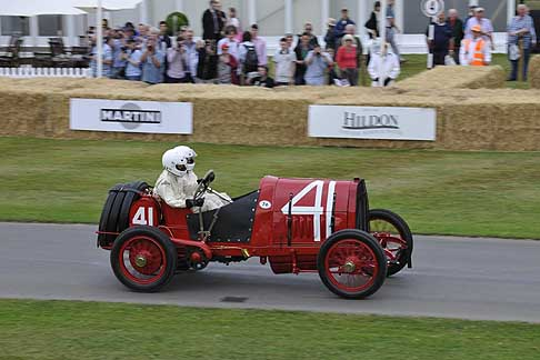 Cronoscalata di auto storiche - Fiat S74 Grand Prix at the Goodwood Festival of Speed 2015