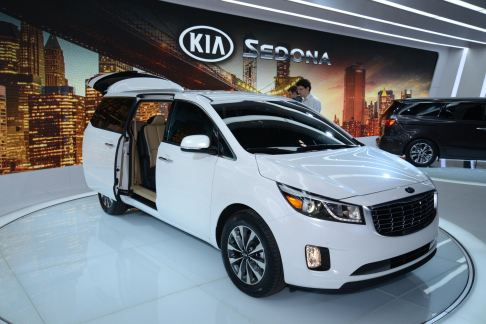 Kia Motors - Kia Sedona world debut at the 2014 New York Auto Show