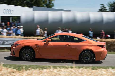 Cronoscalata di auto storiche - Lexus RC F at the Goodwood Festival of Speed 2015