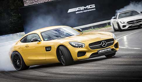 Mercedes-Benz - Mercedes AMG GT test drive in Brooklands Circuit in Gran Britain