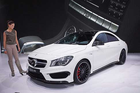 Mercedes-Benz - Mercedes-Benz CLA 45 AMG and model at the New York Auto Show 2013