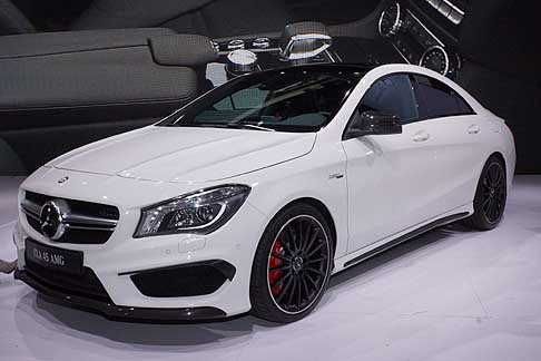 Mercedes-Benz - Mercedes CLA 45 AMG world premiere at the New York Auto Show 2013