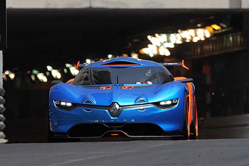 Renault - Renault Alpine A110-50 concept - The day before the start of the Formula1 Grand Prix, Renault Alpine A110-50 in the Monaco streets