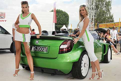 Skoda - Skoda Fabia RS 2000 protoripo retrotreno vetture e hot girls