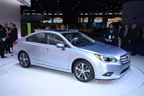 Subaru - Subaru Legacy 2015 world premiere at the Chicago Auto Show 2014
