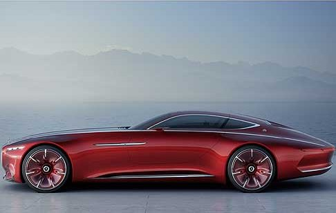 Mercedes-Benz - Vision Mercedes-Maybach 6 vista latera supercar elettrica