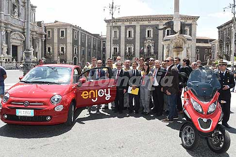 Enjoy - Car Sharing Enjoy con 170 auto e 30 motocicli in condivisione a Catania