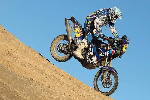 Yamaha - Dakar 2012 -10° stage che collega Iquique Arica con la moto Yamaha 450 YZF Rally del biker francese Olivier Pain