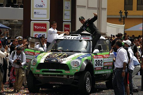 Mini Racing - Dakar 2012 vincitore Stephane Peterhansel su Mini All4 Racing green car