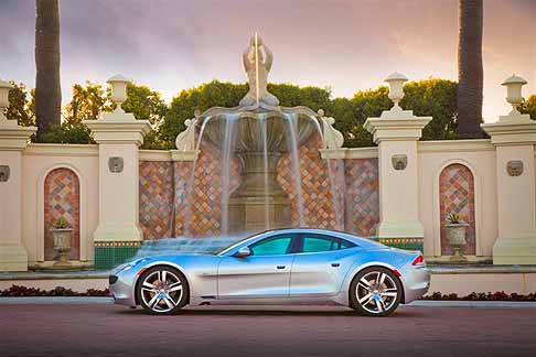 Fisker Automotive - 2012 Fisker Karma Silver Wind Static Side exterior vehicle