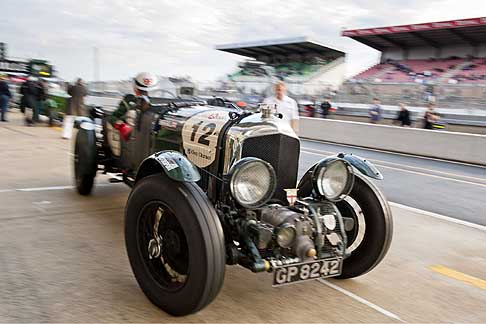Bentley - Le Mans Classic leaving the pits