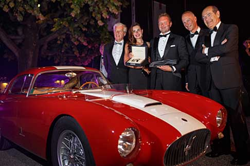 Maserati - Equipaggiata con un motore 6 cilindri in linea da 1988 cc, la Best in class del Concorso d'Eleganza di Villa d'Este 2016 appartiene alla Destriero Collection del Principato di Monaco. Da sinistra a destra: Ulrich Knieps, Head of BMW Classic, Timm Bergold