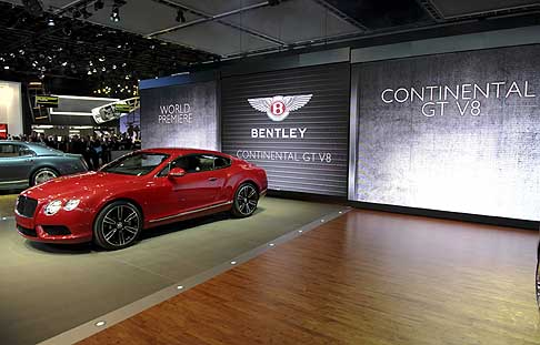 Bentley - The New Bentley Continental GT V8 Reveal World Premiere al salone di Detroit