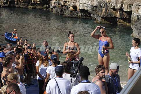 Red Bull Cliff Diving World Series 2017 - Premiazione donne al Red Bull Cliff Diving World Series 2017 a Polignano a Mare - Italy