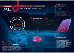 Jaguar XE, infotainment all'avanguardia