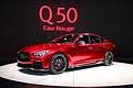 All-New Infiniti Q50 Eau Rouge Concept car red at the Detroit Auto Show 2014