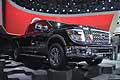 Nissan Titan XD black at the NAIAS 2015 of Detroit