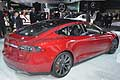 Tesla Model S P85D electric vehicle at the Detroit Auto Show 2015