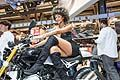 Moto BMW hostess all´Eicma 2013 di Milano. Moto BMW hot sexy hostess