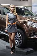 Beautiful girl Navara NP300 al Francoforte Motor Show 2015