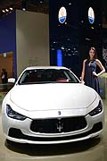 IAA - Maserati Ghibli e hostess at the Frankfurt Motor Show 2013