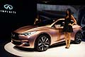Infiniti Q30 unveil Concept car and model al Salone di Francoforte2013