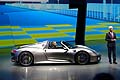 Porsche 918 Spyder press day al Salone di Francoforte 2013