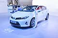 Car Toyota Auris Hybrid at the Frankfurt Motor Show 2013