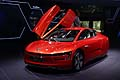 Volkswagen XL1 open door at Frankfurt Motor Show 2013