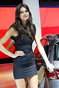 beatifull hostess at the Frankfurt Motor Show 2013