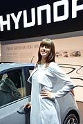 Hostess stand Hyndai at the Frankfurt Motor Show 2013