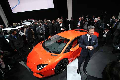 Lamborghini - Salone di Ginevra  press day per Lamborghini Aventador LP 700-4