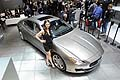 Quattroporte Ermenegildo Zegna Limited Edition and hostess at the Geneva Motor Show 2014