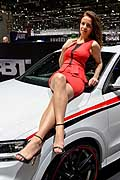 Beautiful girl at the Geneva Motor Show 2014 - Hostess Motor Show