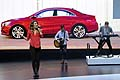 American pop duo Karmin at the presentation of the new Mercedes CLA in Geneva 2013
