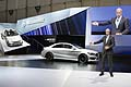 Dieter Zetsche, Chairman of the Board of Management of Daimler AG and Head of Mercedes-Benz Cars presenting new Mercedes CLA