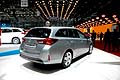 Toyota Auris Touring Sport posterore al Ginevra Motor Show 2013