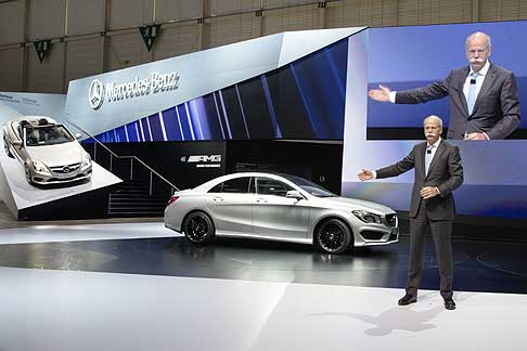 Mercedes-Benz - Dieter Zetsche, Chairman of the Board of Management of Daimler AG and Head of Mercedes-Benz Cars presenting new Mercedes CLA