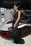 Beautiful model supercar Nimrod in Geneva Motor Show 2016